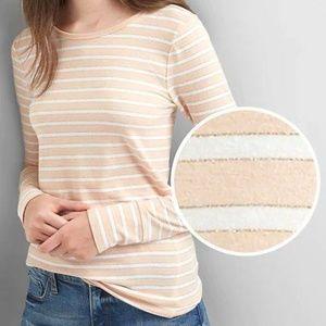 GAP Metallic Stripe Long Sleeve Tee - Pink Stripe